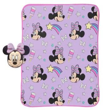 Minnie Mouse Purple Rainbow Pillow & Throw Set