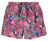 George Pink Toucan Print Swim Shorts