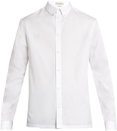 Balenciaga Stud-embellished collar cotton-poplin shirt