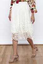 Bacio Mesh A-line Skirt