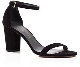 Stuart Weitzman Women's Nearlynude Ankle Strap Sandals