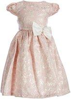 Jayne Copeland Big Girls 7-12 Floral Brocade Bow Dress