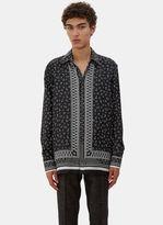 Men's Printed Pyjama Shirt In Black And White €995