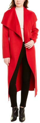 Mackage Mai Leather-Trim Wool Coat