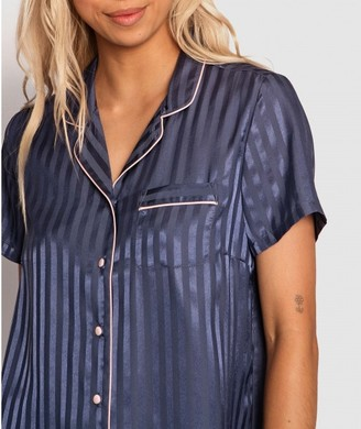 Bras N Things Country Romance Short Sleeve Shirt - Blue