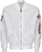 Alpha Industries Reversible MA 1 NASA Jacket White