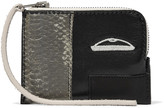 Rick Owens Small paneled snake and leather pouch