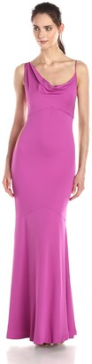 Nicole Miller Women's New Stretch Crepe Gown