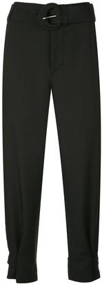 Proenza Schouler White Label Rumpled pique belted pants