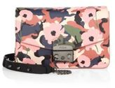 Furla Metropolis Flower-Print Leather Crossbody Bag