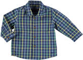 Mayoral Long-Sleeve Check Poplin Shirt, Blue, Size 6-36 Months