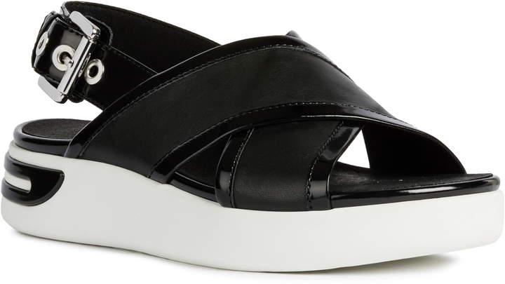 ed519016d Geox Black Heeled Women's Sandals - ShopStyle