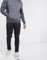 Calvin Klein printed texture 5 pocket pants in black