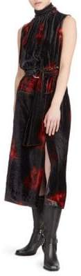 Altuzarra Indira Velvet Belted Dress