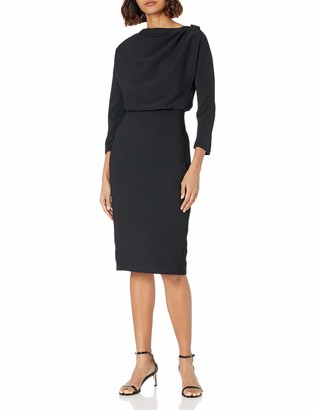 Badgley Mischka Women's Fitted Body CON Cocktail Dress