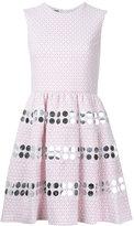 Jourden - metallic embellishment flared dress - women - Cotton/Polyamide/Polyester/Metallic Fibre - 42