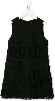 Alberta Ferretti Kids Fringe Detail Shift Dress