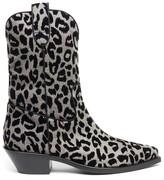 Dolce & Gabbana Leopard Print Cowboy Boots