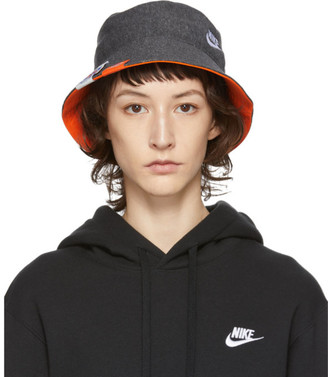 Nike Grey Heathered Bucket Hat