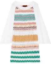 Missoni Crochet-knit Mini Dress - White