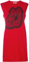 McQ by Alexander McQueen skull rabbit print dress - women - Cotton - XS