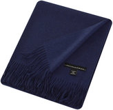 Sofia Cashmere Trentino 2 Ply Fringed Throw - Navy