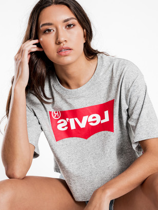 Levi's Reverse Graphic Oversize T-Shirt in Reverse Smokestack Heather