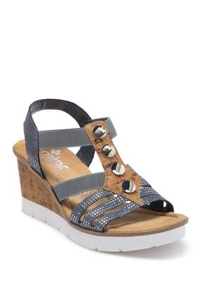 Rieker Rabea 37 Studded Wedge Sandal