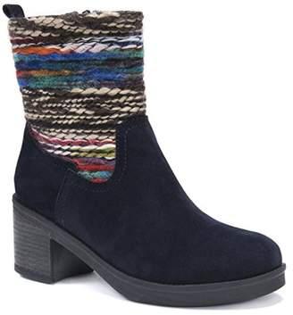 Muk Luks Women's Brittani Bootie Wheeled Heel Shoe