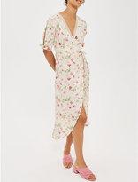 Topshop Floral-print wrap dress