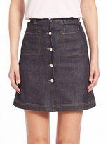 Carven Stretch Denim Mini Skirt