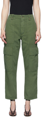 Citizens of Humanity Green High-Rise Surplus Zadie Trousers