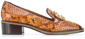 Tory Burch Snakeskin Effect Loafers