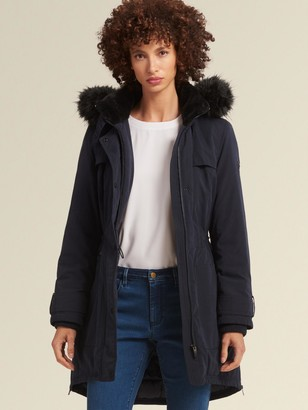 DKNY Anorak With Fur-trimmed Hood