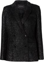 Cédric Charlier double breasted tinsel blazer - women - Acetate/Viscose/Wool/Polyimide - 38