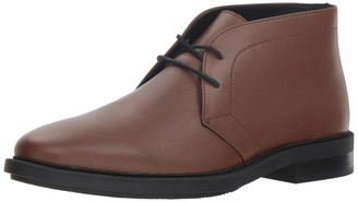 Calvin Klein Men's CAM Smooth Calf Leather Chukka Boot