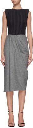 Alexander McQueen Sleeveless panelled midi dress