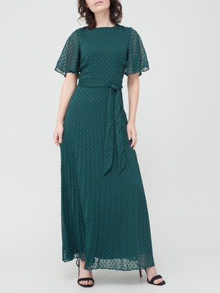 Very Pleated Maxi Dress - Teal