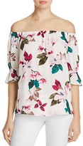 1 STATE 1.STATE Off-the-Shoulder Floral Print Blouse