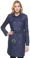 Juicy Couture Chambray Two Tone Trench Coat