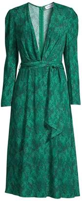 Fame & Partners Leuven Snake Print Dress