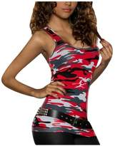 XWDA Camouflage Vest Women Sleeveless T-shirt Summer Casual Tank Tops