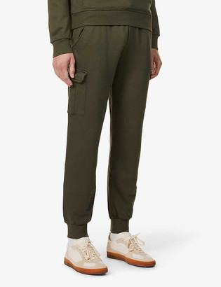 Eleventy Drawstring-waistband tapered cotton-jersey jogging bottoms