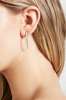 Forever 21 Rhinestone Curved Drop Earrings