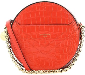 Givenchy Embossed Round Crossbody Bag