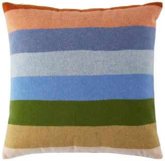 The Elder Statesman Multicolor Stripe Pillow