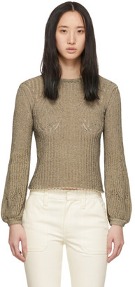 Chloé Beige and Black Knit Pullover