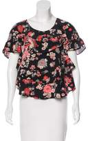 Joie Floral Print Silk Top w/ Tags