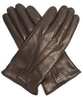 Prada Topstitched leather gloves