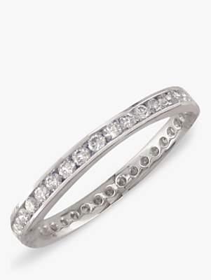 E.W Adams Platinum Diamond Full Eternity Ring